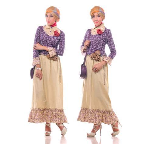 Baju Batik Kombinasi Kain Kebaya 23 model baju gamis batik wanita kombinasi kain polos elegantria