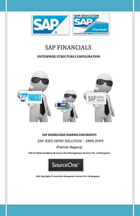 Sap Course For Finance Mba by Sap Financial Enterprise Structure