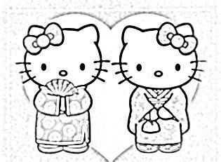 hello kitty kimono coloring page 11 best risco hello kitty images on pinterest hello
