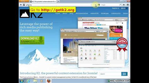 k2 joomla tutorial youtube install component k2 in joomla 2 5 youtube