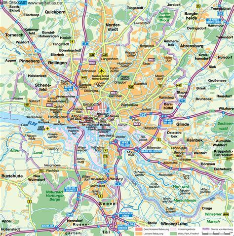 Hamburg Karte by Karte Hamburg Stadt Deutschland Welt Atlas De