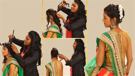 easy to make hairstyles with saree indian simple hairstyles for wedding to do yourself twist