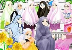Cartoon Girl with Hijab