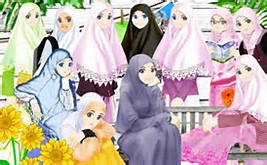 Cartoon Girl with Hijab