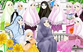 Gambar Kartun Muslimah Islam