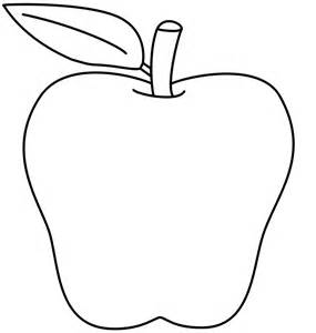 Apple Coloring Page sketch template