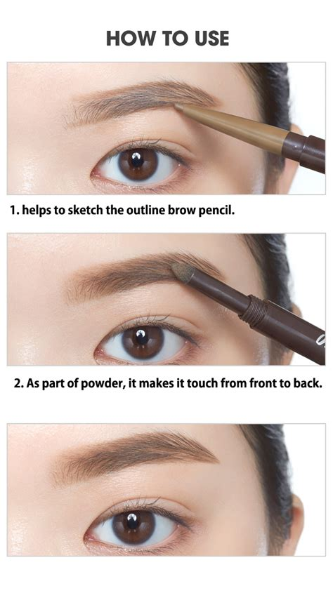 Kcutieshop Etude Drawing Eyebrow New etude house drawing eye brow duo 0 8g eyebrow liner