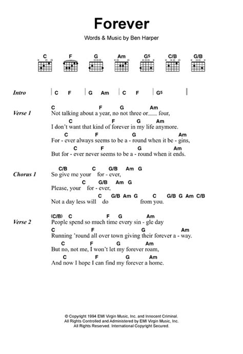 lyrics and chords forever sheet by ben lyrics chords 117958