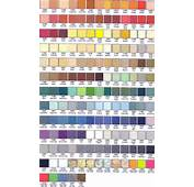 Paint Chip Color Chart For Epoxy / Urethane Floor Systems