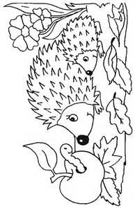 Hedgehog Animal Coloring Pages Printable sketch template