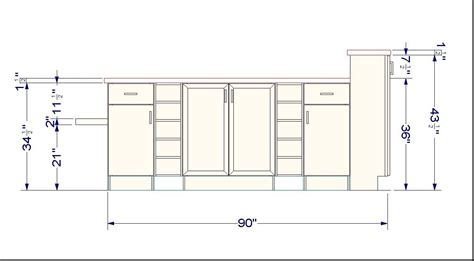 height for kitchen cabinets standard wall cabinet height from floor