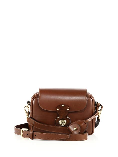 ralph ricky small leather zip crossbody bag