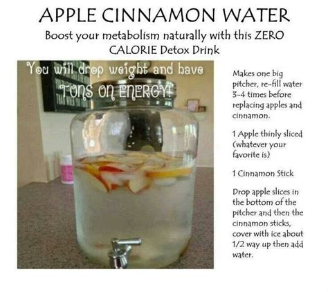 Apple Cinnamon Detox Water With Powdered Cinnamon by Apple Cinnamon Detox Water Detox Detox