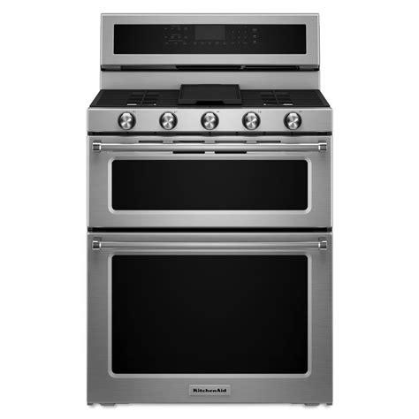 Oven Gas 1 Juta shop kitchenaid 30 in 5 burner 3 9 cu ft 2 1 cu ft self