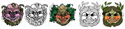 printable masks for carnival halloween mardi gras and