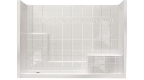 shower inserts with seat single shower stalls kits