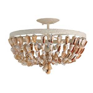 Ceiling Chandeliers Shell Ceiling Mount Chandelier Coastal