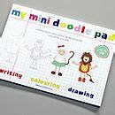 mini doodle pad wedding alphabet doodle pad by yoyo me