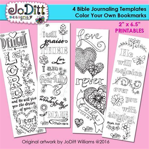 4 bible journaling templates bible verse bookmark coloring