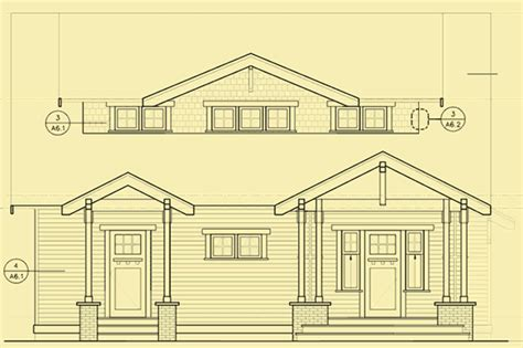 bungalow floor plan with elevation craftsman style bungalow house plans for a narrow lot