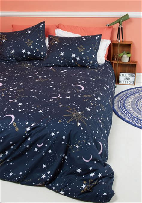 modcloth bedding star crossed covers duvet cover in full queen mod retro vintage decor accessories