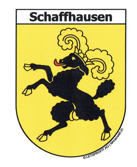 Aufkleber Drucken Z Rich by Schaffhausen Sh Sticker In Wappenform Mit Schriftzug