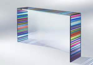 Modern Glassware Chroma Collection Gt Gt Modern Glass Console Table Usefull