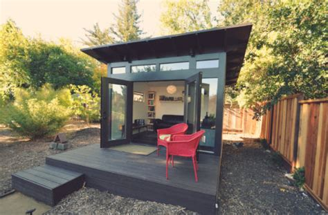Building A Backyard Office by Studio Shed Modern Prefab Backyard Studios Office