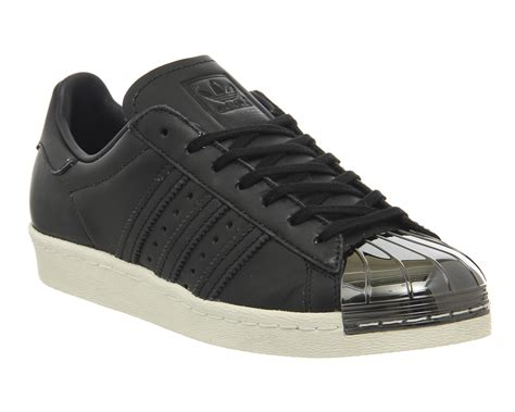 Exclusive Adidas Superstar Jaman Now adidas superstar 80 s metal toe trainers black white