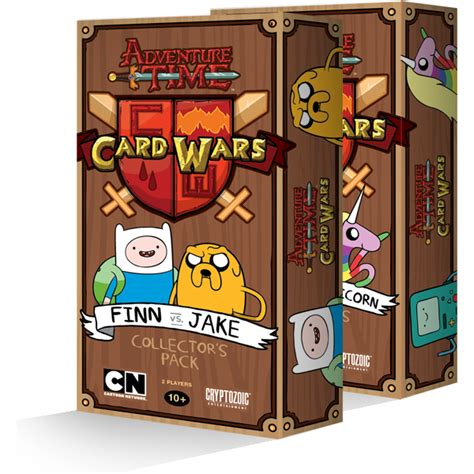 wars cards adventure time card wars collector s pack cryptozoic