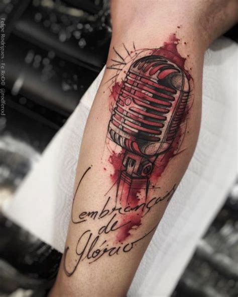 microphone watercolor tattoo 37 perfect musical tattoos you ll really really want