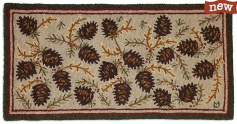 the hook wool rugs northwood cones hooked wool rugs