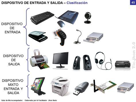 perifericos de salida dispositivos de entrada y salida