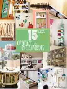 organization solutions inspiration to organize using up cycled materials picklee