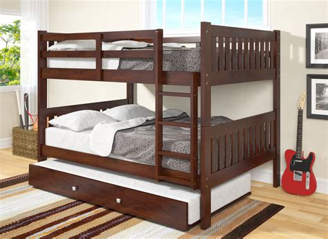 full bed bunk beds donco kids full over full bunk bed with trundle ebay
