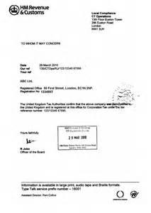 Certification Letter Residency certification letter residency confirmation hmrc