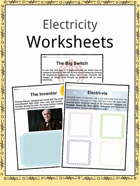 electricity worksheets education com things that use electricity worksheet the best and most