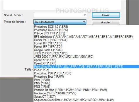 format video for psp photoshoplus ouvrir les images de paint shop pro avec