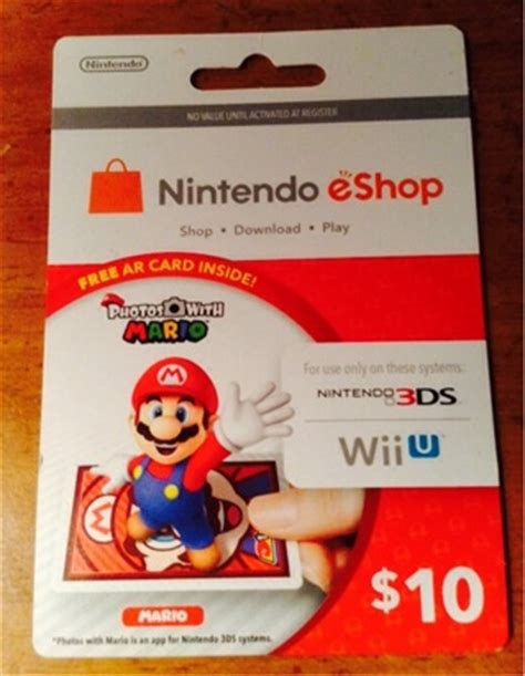 Ds Gift Card - free nintendo eshop 10 gift card for nintendo 3ds systems and wiiu system only