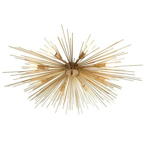 starburst flush mount light brass starburst flushmount black rooster decor