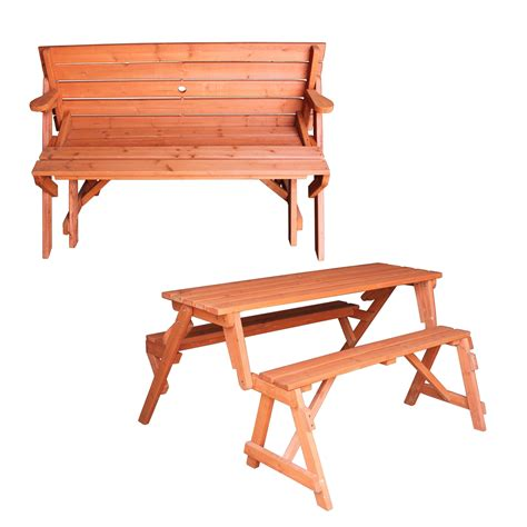 folding bench picnic table foxhunter garden wooden folding picnic seat table bench 2