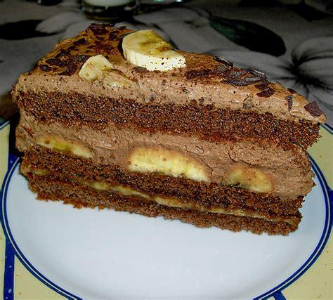 einfache kuchen rezepte schoko einfache schoko bananen torte rezept mit bild