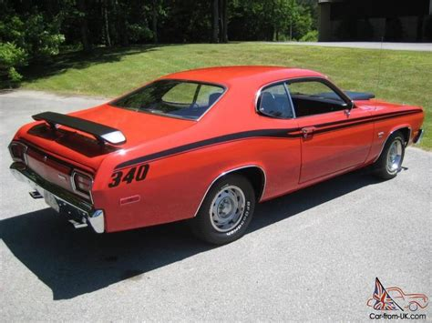 1973 plymouth duster 340 for sale 1973 plymouth duster 340 4 spd complete restoration