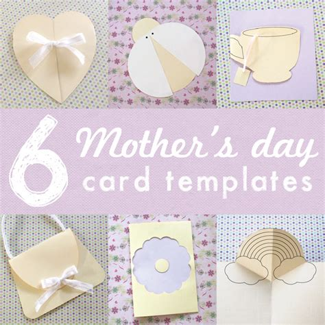 mothers day cards templates ks2 6 printable mothers day card templates for the