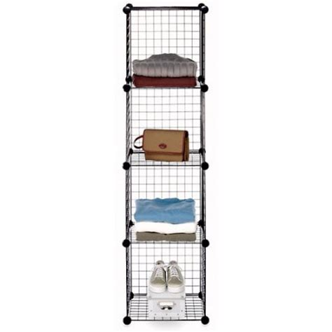 wire cube shelving whitmor black wire storage cubes set of 4 walmart