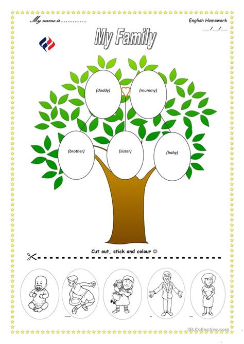 Family Tree Template For Kindergarten all worksheets 187 family tree worksheets printable worksheets guide for children and parents