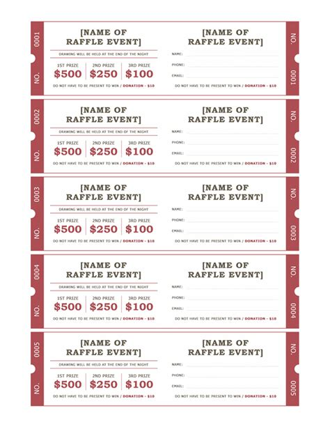 avery event ticket template search results for avery free raffle ticket template