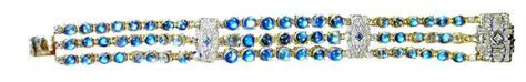 Art Deco Diamond Bracelet Sapphire Bangle Rainbow