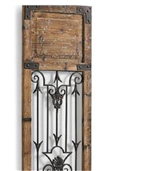 Modern Vintage Rustic Wood Metal Antiqued Garden Gate Wall Garden Gate Wall Decor