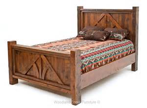 Bed Post by Barn Wood Bed Reclaimed Wood Bed Western Bed Lodge